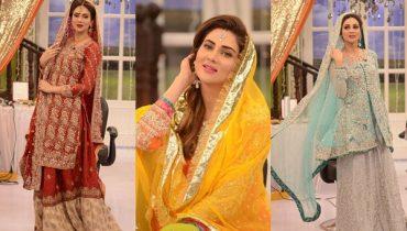 See Fiza Ali in Bridal Dresses at Good Morning Pakistan - Latest Bridal Fashion