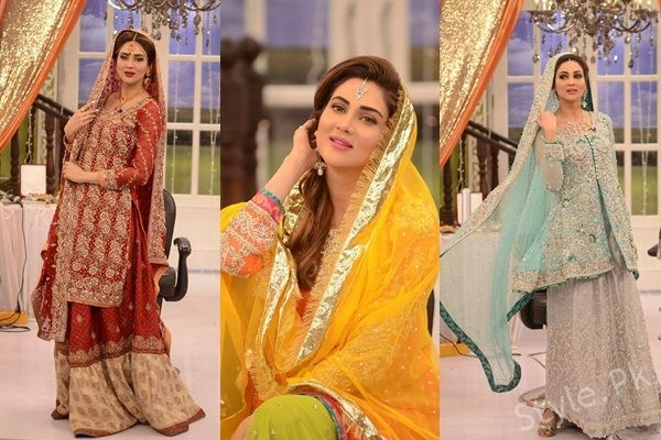 See Fiza Ali in Bridal Dresses at Good Morning Pakistan - Latest Bridal Fashion