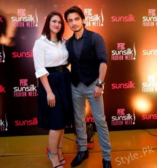 See Ali Zafar with his Wife at PFDC Sunsilk Fashion Week 2017