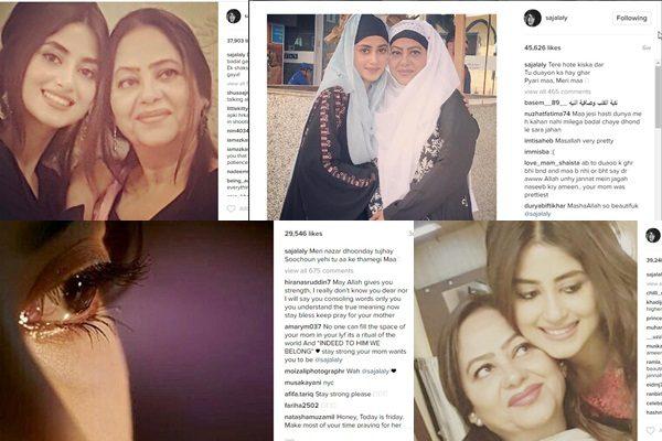 See Sajal Ali's Instagram Posts after her Mother's death Break Heart