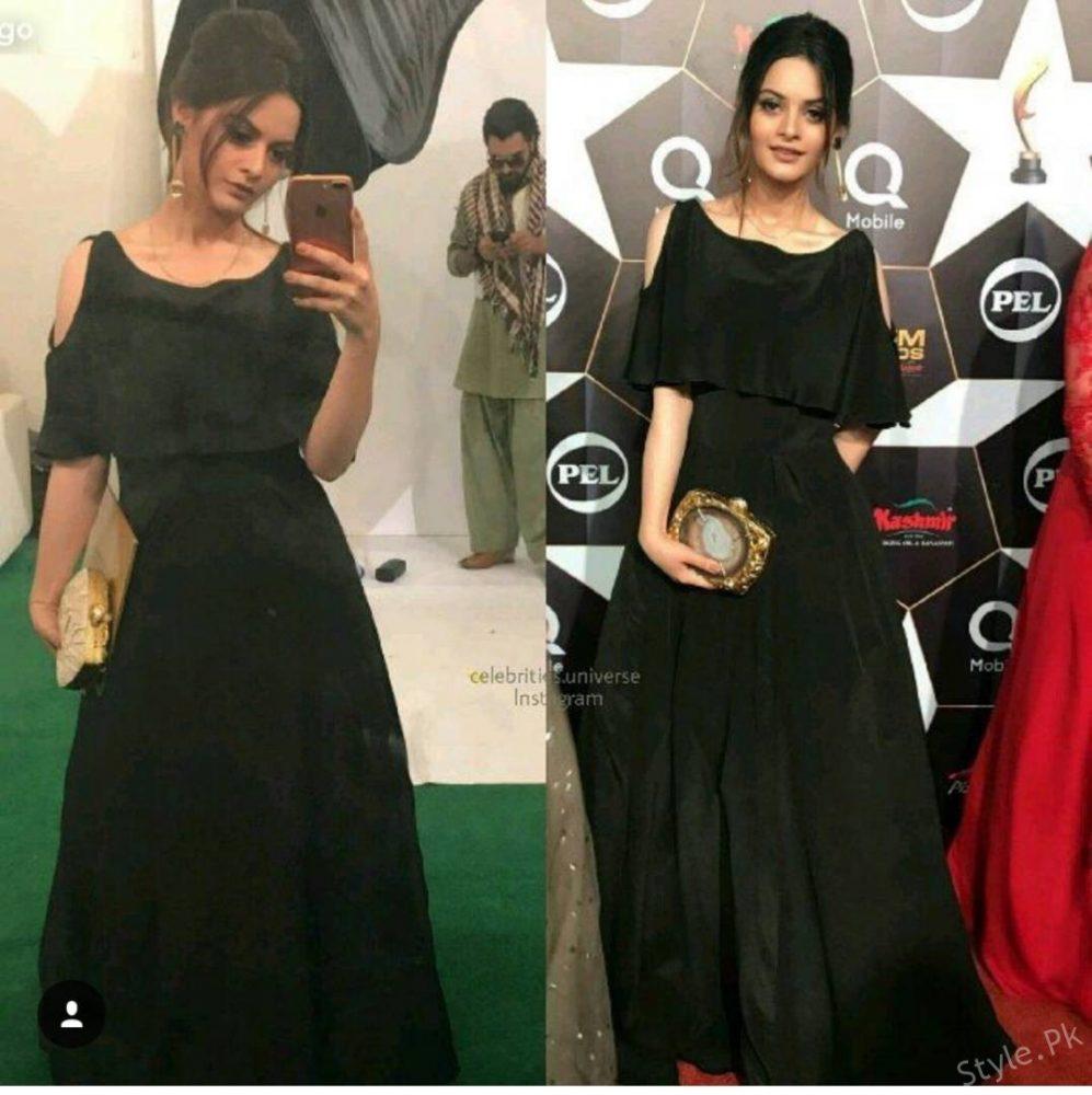 Aiman Khan And Minal Khan At Red Carpet Of Hum Awards