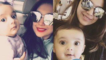 See Beautiful Pictures of Sanam Jung with her daughter