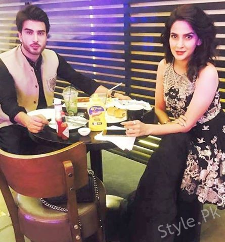 Saba Qamar Spotted With Imran Abbas At EID Show Recording