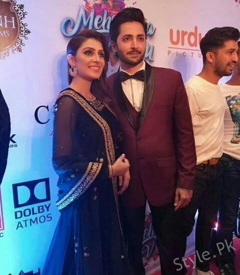 Ayeza and Danish at the Premiere of Mehrunisa V lub U