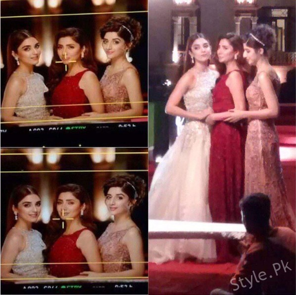 See Leaked Pictures from Lux TVC featuring Maya Ali, Mahira Khan and Mawra Hocane