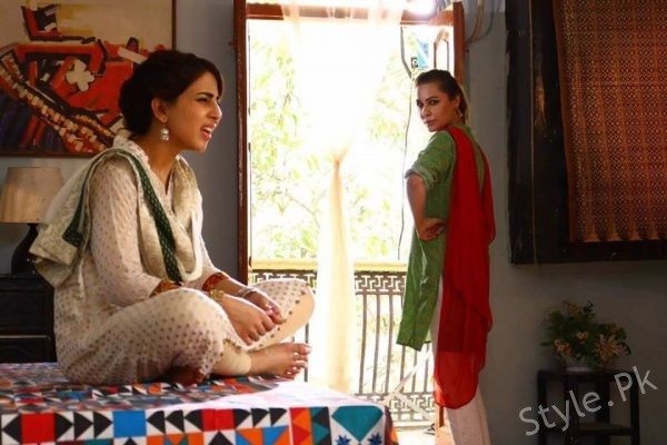 See Nousheen Shah and Ushna Shah on the set of Upcoming Eid Play