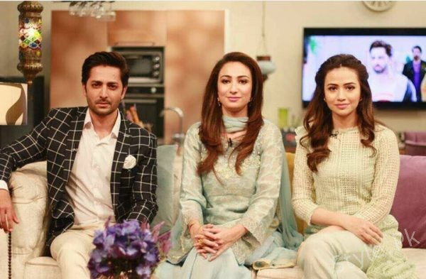 See Sana Javed and Danish Taimoor in a Show on Dawn News