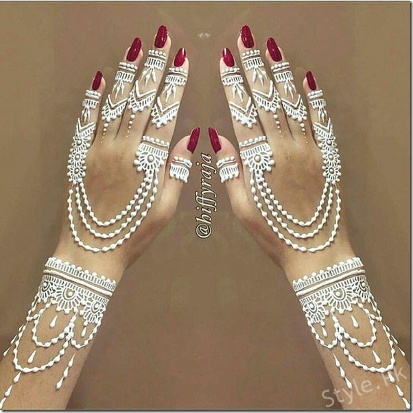 White Mehndi Buy : Top white henna designs for eid mehndi is
