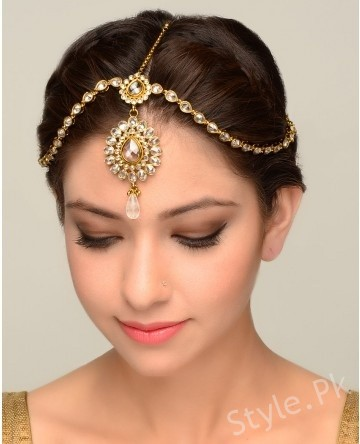 Wedding Hairstyles Round Face Matha Patti Hairstyles For Barat