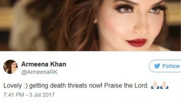 see Armeena Rana Khan is Receiving Death Threats.