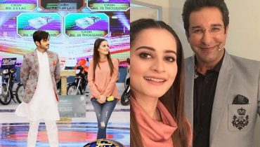 See Aiman Khan and Wahaj Ali in GEO Khelo Pakistan