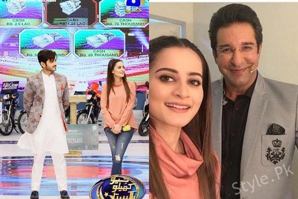 See Aiman Khan and Wahaj Ali in GEO Khelo Pakistan