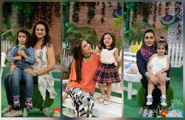 See Celebrity Moms with their Kids in Good Morning Pakistan