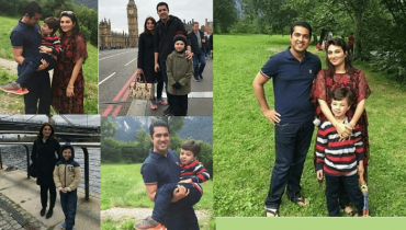 See Iqrar ul Hassan having quality time with his wife and son in London