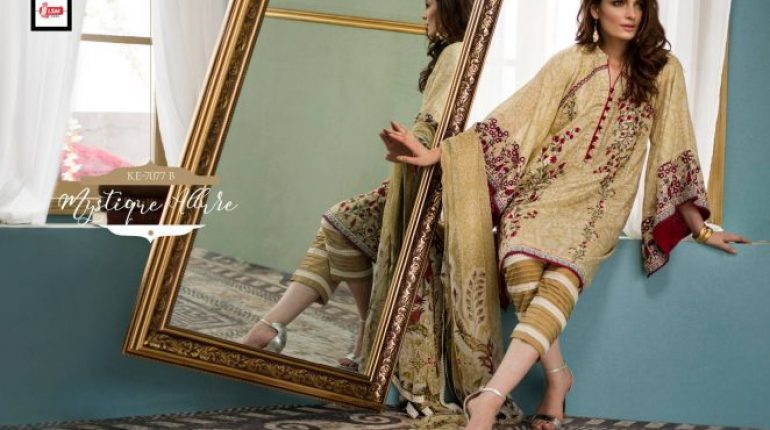 LSM Fabrics Komal Exclusive Embroidered Collection 2018