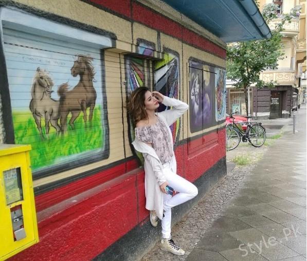 See Mehwish Hayat Having Fun in Berlin