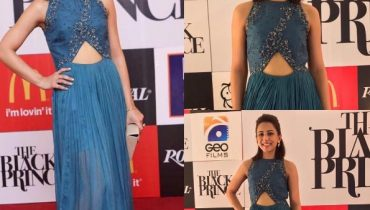 See Ushna Shah at the Premier of movie Black Prince