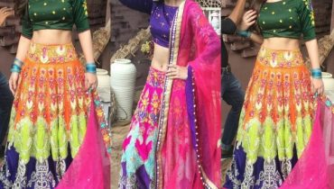 See Urwa Hocane Looks Glamorous in this Colorful Lehnga Choli