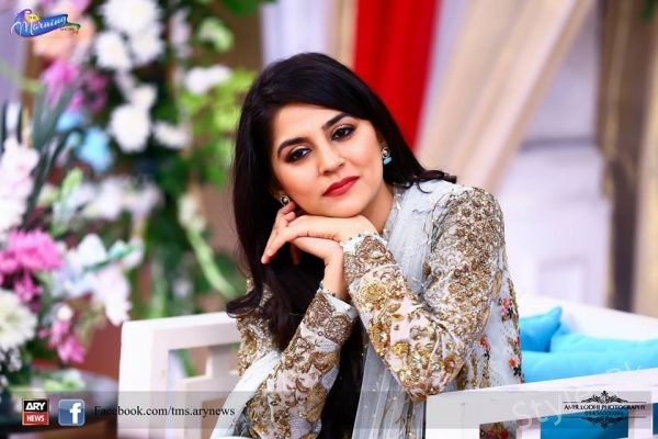 Sanam Bloch New Shoot On Set Of ARY News