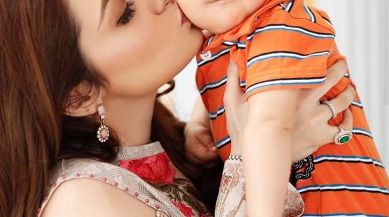 See Adorable Picture of Juggan Kazim with her Son