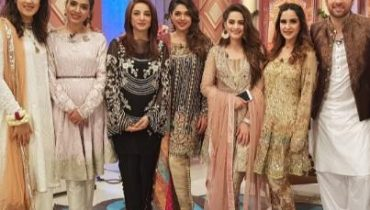 see The Stylish Mikaal Zulfiqaar Going to do Eid Show with the Charming Ladies!