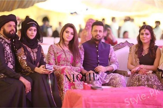 Mehndi Ceremony Zara : Beautiful pictures of atif aslam with wife sara at zara shaheen s
