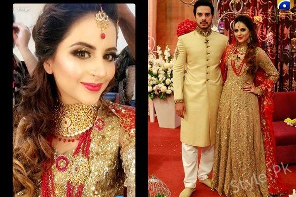See Fatima Effendi and Kanwar Arsalan as Bride and Groom