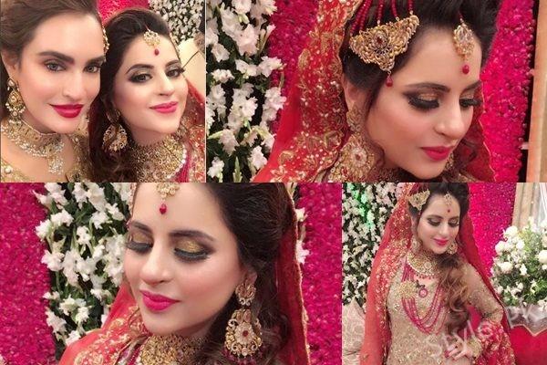 See Fatima Effendi's Bridal makeup done by Nadia Hussain