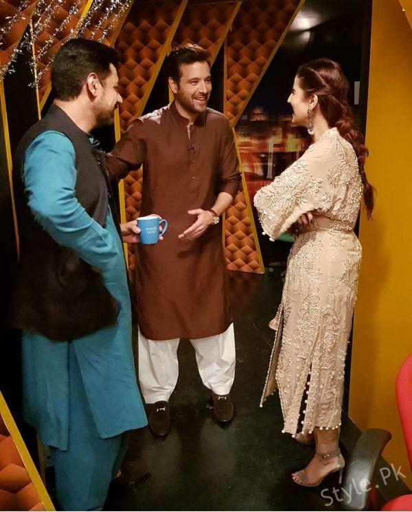 See Hareen Farooq on set of Muzak raat Eid Show