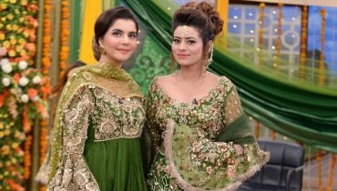 See Latest Mehndi Dresses and Mehndi Makeup