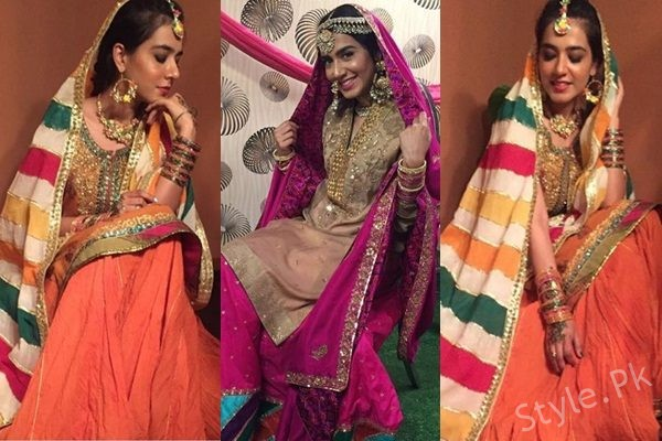 See Mansha Pasha looks beautiful in these Mehndi Dresses