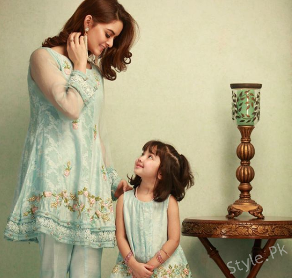see Minal Khan's Photo-shoot with a Cute Little Doll!