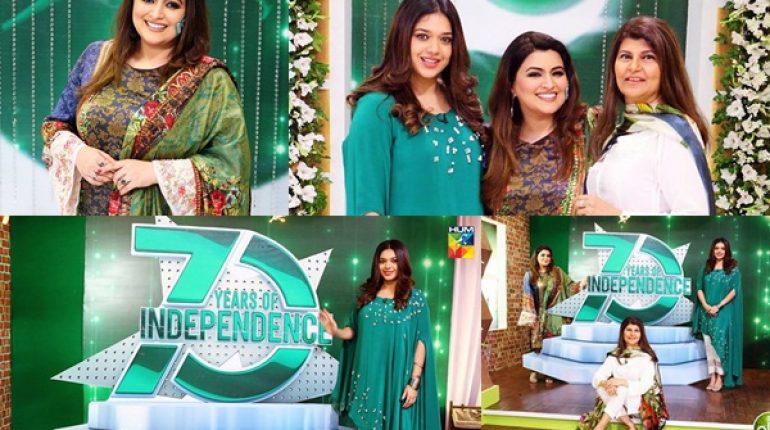 See Pakistani Celebrities Celebrating Independence Day at Jago Pakistan Jago