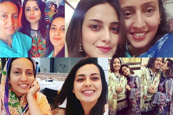 See Pictures of Iqra Aziz with her Mother