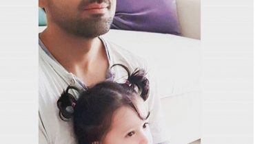 See Sami Khan with His Daughter