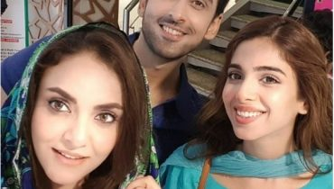 See Nadia Khan on the Set of her Upcoming Drama Pakeeza