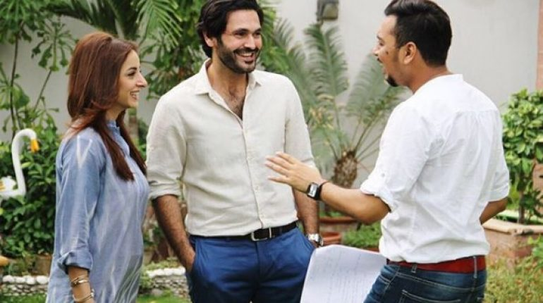 See Pictures of Sarwat Gilani and Fahad Mirza from the set of Upcoming Drama