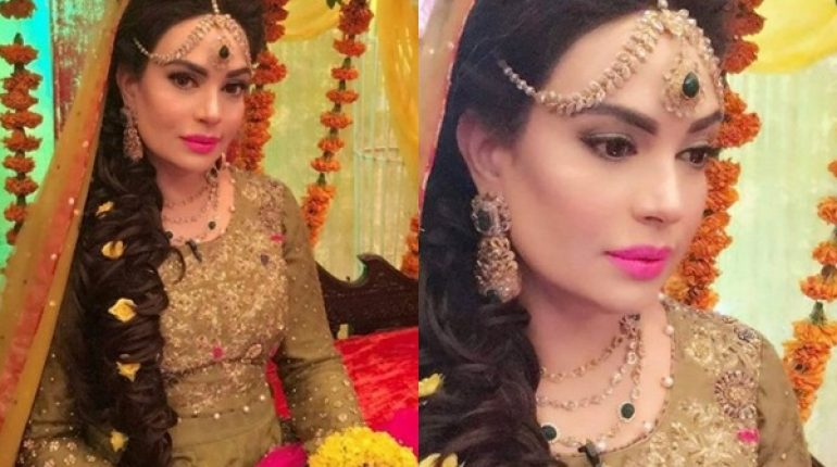 Mehndi Hairstyles For Guests : You will love sadia imam as mehndi bride in geo subha pakistan