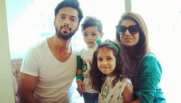 see Picture of Fahad Mustafa with his Family on 70th Independence Day!
