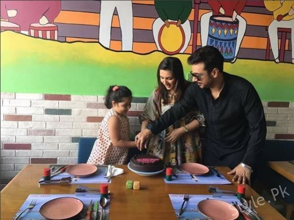 Faysal Qureshi And Sana Faysal 7th Anniversary Celebration Pictures