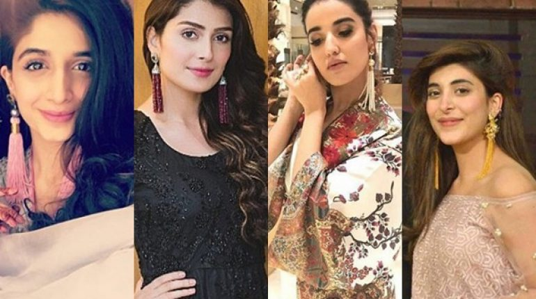See Pakistani Celebrities in Tassel Earrings