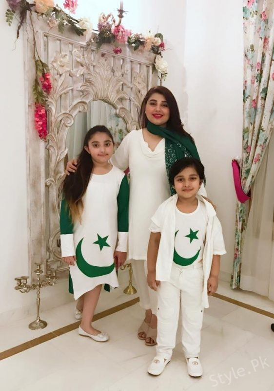 Saud And Javeria Celebrating Independence Day With Their Kids
