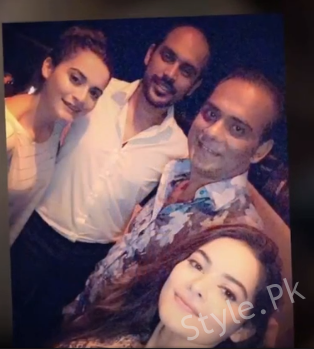 Aiman Khan And Minal Khan At The Birthday Party Of Wajahat Hussain