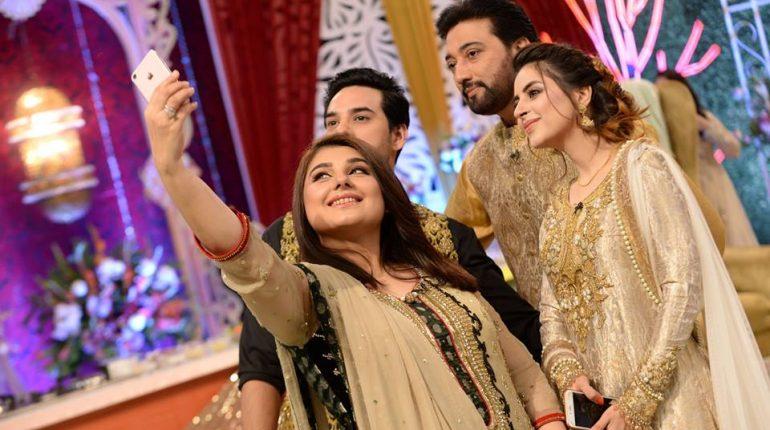Celebrity Couples At Good Morning Pakistan, pskistsni celebs, famous pakistani celebs, celebrities, fatima effendi, good morning show