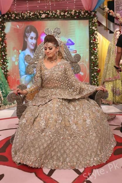 Pakistani Bridal Fashion Trends displayed in Geo Subha
