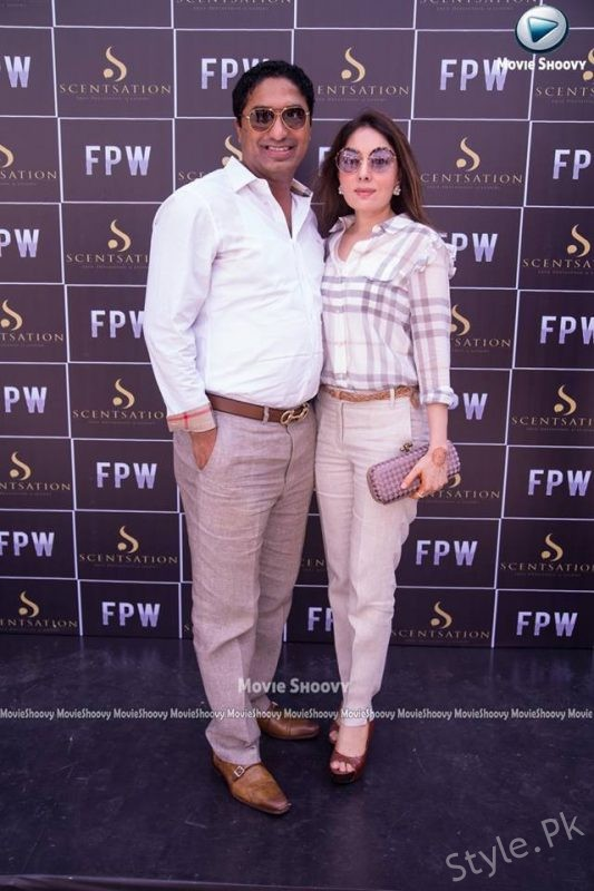 See Sharmila Farooqi with her husband at FPW'17 Lunch