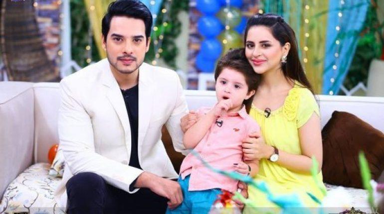 Fatima And Kanwar's Son Alimir's Birthday Celebrations At Morning Show Of Sanam Baloch, pakistani celebs, pakistani celebrity