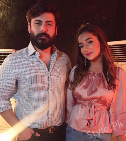Fawad Khan With His Wife Son And Daughter At A Recent Event, famous hero, superstar, star, pakistani star, pakistani actor, model, pakistani model