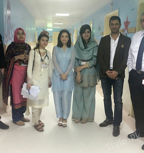 Armeena And Fesl Khan Visited SKMCH