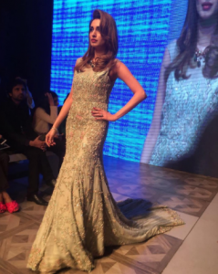 GorgeousIman AliShowstopping for Tabya Khan at PLBW 2017